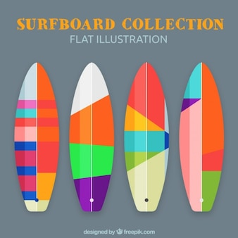 Pack of cool surfboards