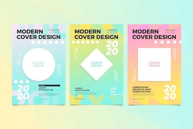 Pack of creative abstract covers
