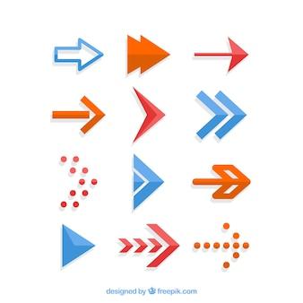 Confezione da frecce creative design piatto