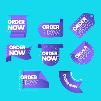 Pack of creative order now stickers