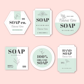 Pack of creative soap labels