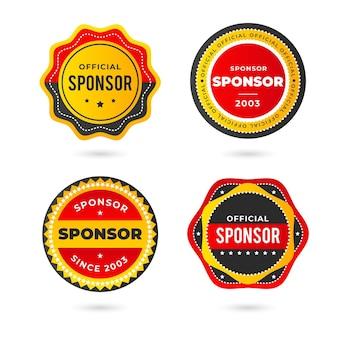 Confezione di adesivi di sponsorizzazione creativi