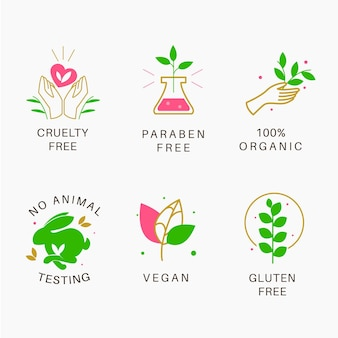 Pack of cruelty free badges illustrated