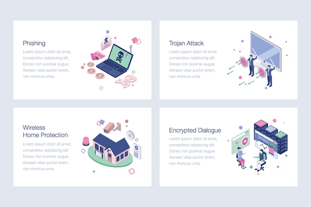 Pack of cyber security illustrations