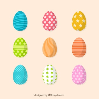 Pack of decorative easter eggs