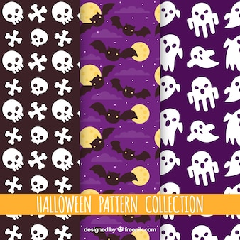 Pack of decorative halloween patterns