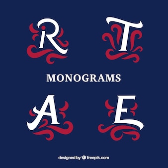Confezione di monogrammi decorativi