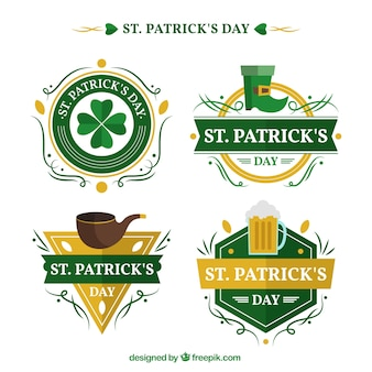 Pack of decorative saint patrick insignia