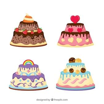 Confezione di deliziose torte di compleanno