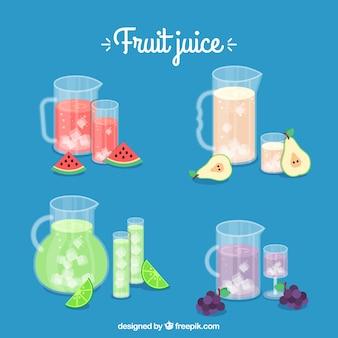 Confezione di succhi di frutta deliziosi