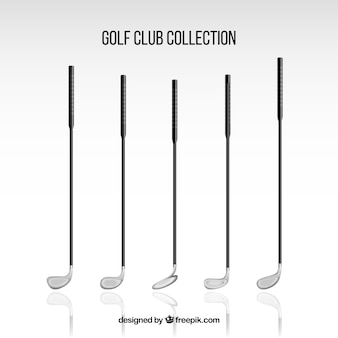 Pack of detailed golf clubs