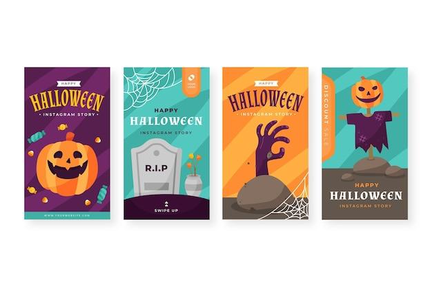 Confezione di diverse storie di instagram di halloween