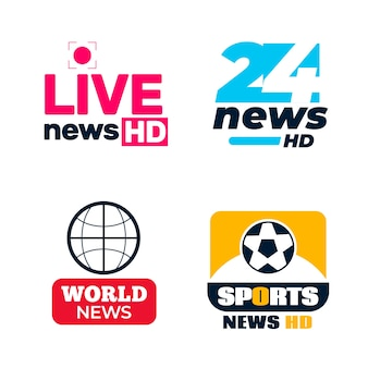 Pack of different news logos