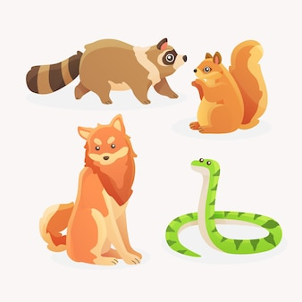 Pack of different pets