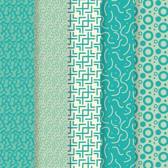 Pack of different rounded lines pattern