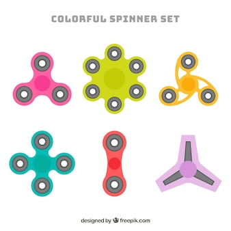 Pack of different spinners
