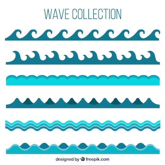 Pack of different waves