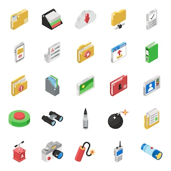 Pack of digital communication icons
