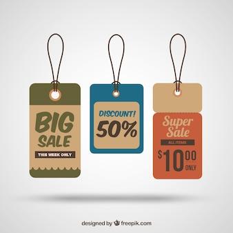 Confezione da discount label