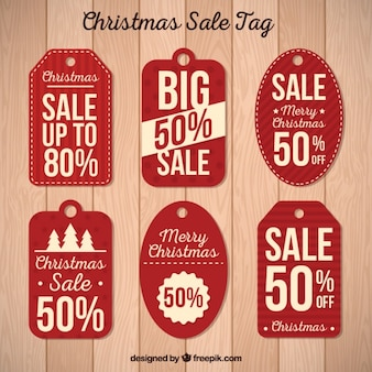 Pack of discount retro labels Free Vector