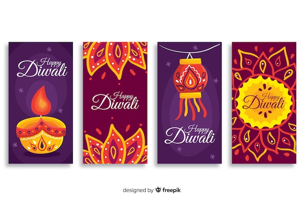 Pack of diwali instagram stories