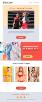 Pack of ecommerce email templates