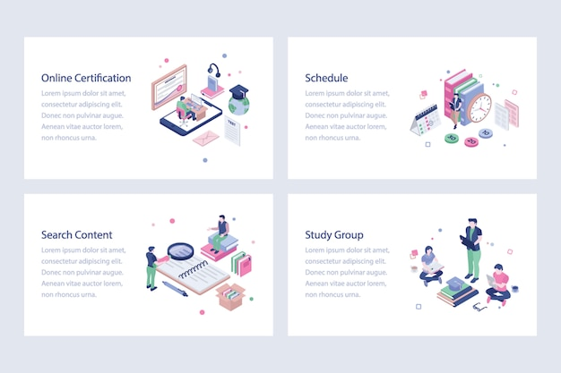 Pack of education illustrations pack