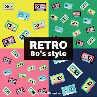 Confezione di modelli degli anni ottanta cassette