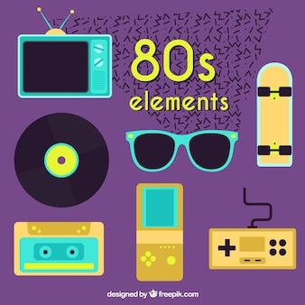 Pack of eighties flat elements