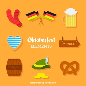 Pack of elements of traditional german celebration