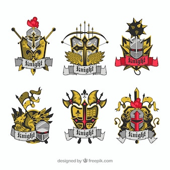 Pack of emblems of knights