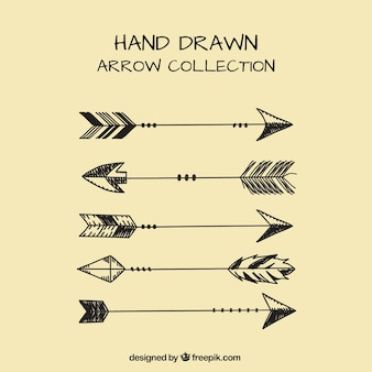 Pack of ethnic hand drawn arrows