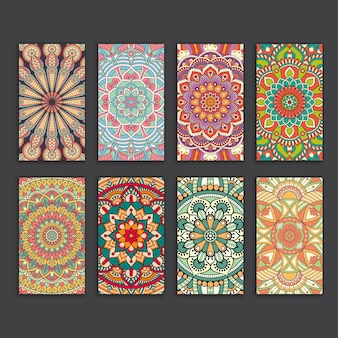 Pack of ethnic vintage cards