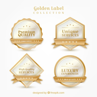 Pack of exclusive golden stickers