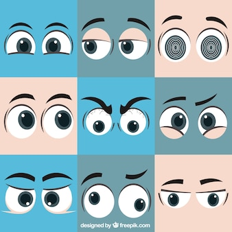 Pack of expressions with eyes