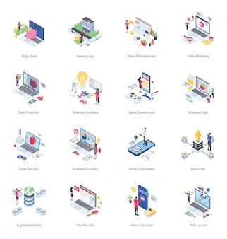Pack of finance illustration