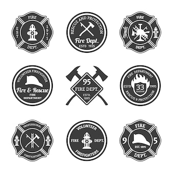 Pack of firefighter badges