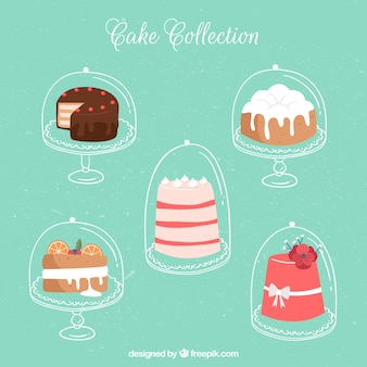 Pack of five cakes