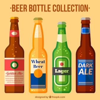 Pack of flat beer bottles