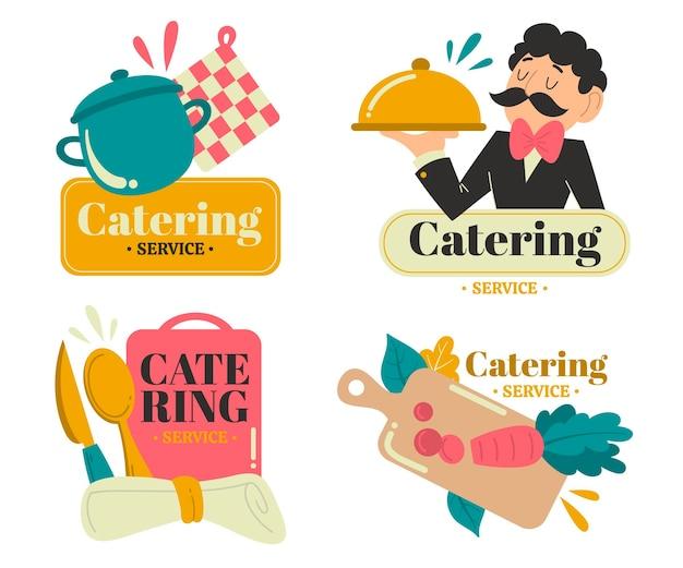 Confezione di loghi per la ristorazione dal design piatto