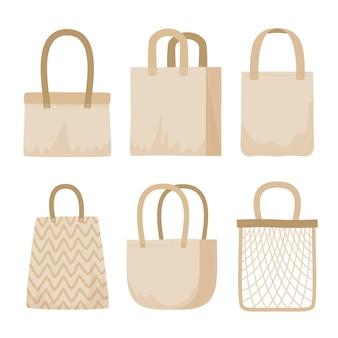 Confezione da borsa in tessuto dal design piatto