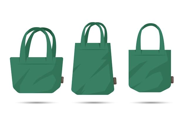 Pack of flat design fabric bag