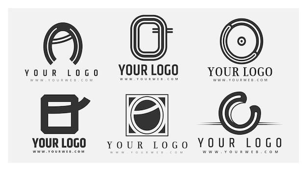 Confezione di modelli di design piatto o logo