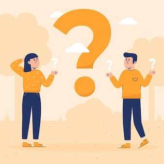 Pack of flat people asking questions