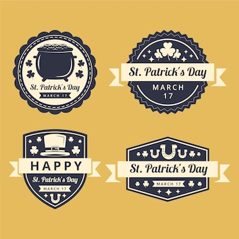 Pack of flat st. patrick's day labels