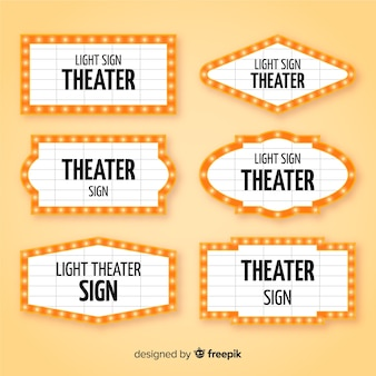 Pack of flat theater sign