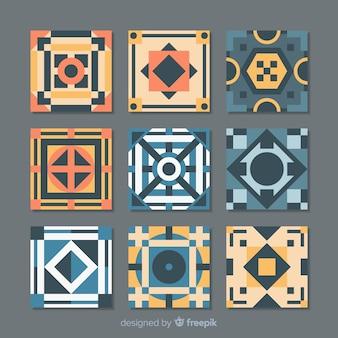 Pack of flat tiles