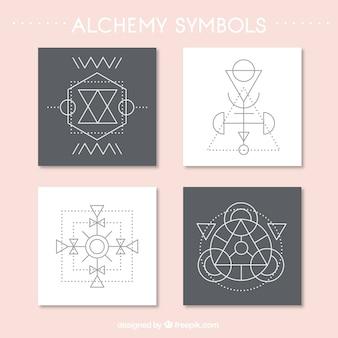 Confezione da quattro carte alchimia