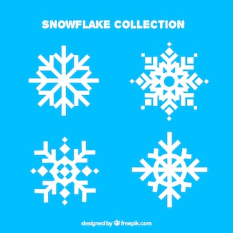 Pack of four beautiful snowflakes