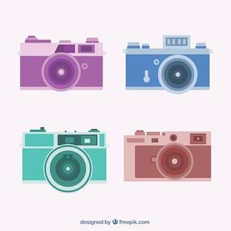 Confezione da quattro telecamere in design piatto